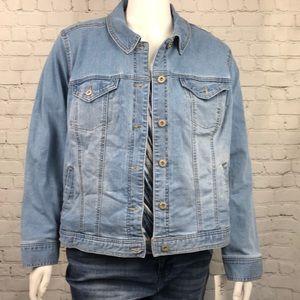 Style & Co Denim Jean Jacket Light Blue Size 20W